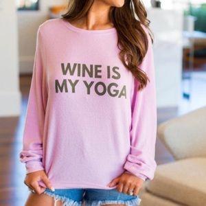 Wildfox Wine Is My Yoga Sweatshirt